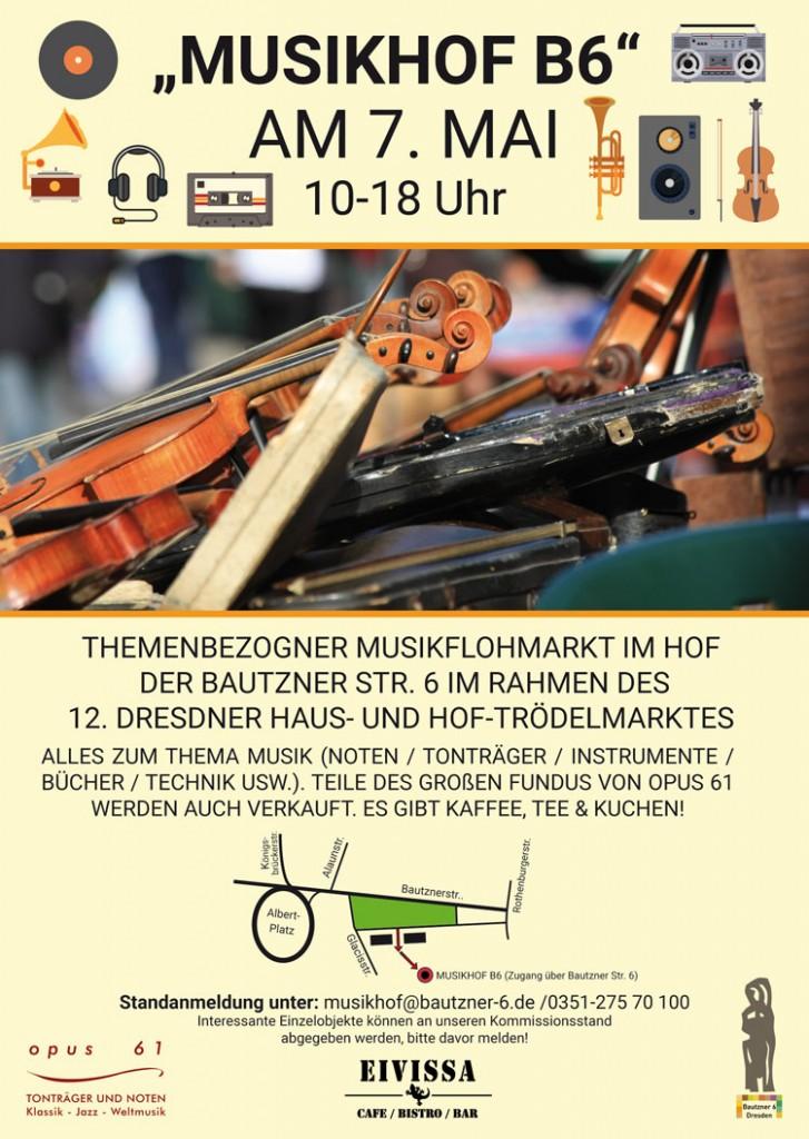 07. Mai 2016 Trödelmarkt in der Bautzner 6