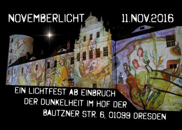 Flyer Bautzner Str. 6 Novemberlicht Veranstaltung Caludia Reh Muenchen